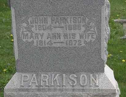 PARKISON, JOHN - Hardin County, Ohio   JOHN PARKISON - Ohio Gravestone Photos