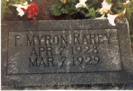 RAREY, F. MYRON - Hardin County, Ohio   F. MYRON RAREY - Ohio Gravestone Photos