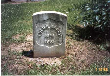 RAREY, LULU R. - Hardin County, Ohio | LULU R. RAREY - Ohio Gravestone Photos