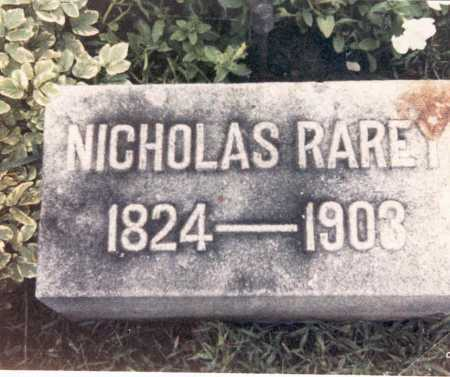 RAREY, NICHOLAS - Hardin County, Ohio | NICHOLAS RAREY - Ohio Gravestone Photos