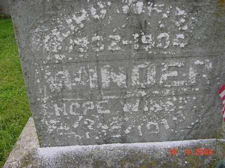 WINDER, HOPE - Hardin County, Ohio | HOPE WINDER - Ohio Gravestone Photos
