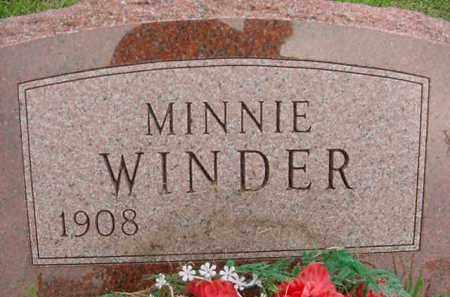 WINDER, MINNIE - Hardin County, Ohio   MINNIE WINDER - Ohio Gravestone Photos