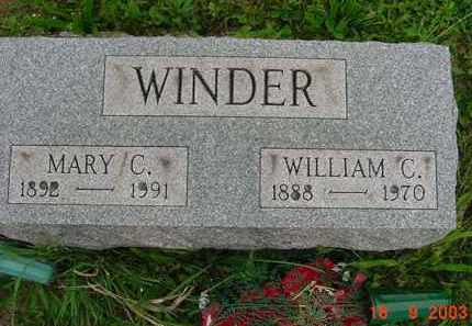 CAIN WINDER, MARY FRANCES - Hardin County, Ohio | MARY FRANCES CAIN WINDER - Ohio Gravestone Photos