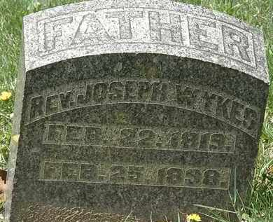 WYKES, REV. JOSEPH - Hardin County, Ohio | REV. JOSEPH WYKES - Ohio Gravestone Photos