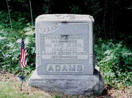ADAMS, ISABEL - Harrison County, Ohio | ISABEL ADAMS - Ohio Gravestone Photos