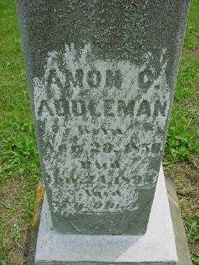 ADDLEMAN, AMON - CLOSE VIEW - Harrison County, Ohio | AMON - CLOSE VIEW ADDLEMAN - Ohio Gravestone Photos