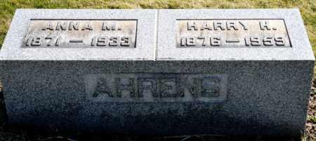 AHRENS, ANNA M. - Harrison County, Ohio   ANNA M. AHRENS - Ohio Gravestone Photos