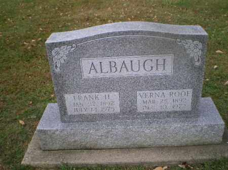ALBAUGH, FRANK H - Harrison County, Ohio | FRANK H ALBAUGH - Ohio Gravestone Photos