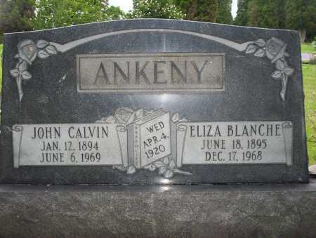 ANKENY, JOHN CALVIN - Harrison County, Ohio   JOHN CALVIN ANKENY - Ohio Gravestone Photos