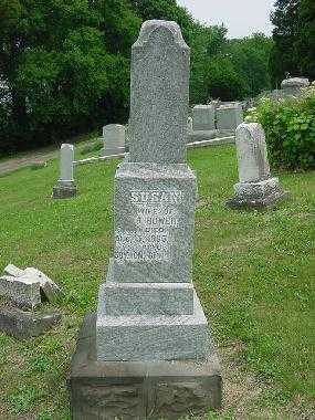 BOWER, SUSAN - MONUMENT - Harrison County, Ohio | SUSAN - MONUMENT BOWER - Ohio Gravestone Photos
