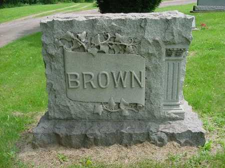 BROWN, MONUMENT - Harrison County, Ohio | MONUMENT BROWN - Ohio Gravestone Photos