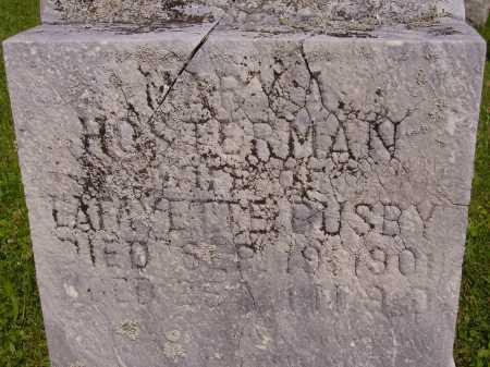HOSTERMAN BUSBY, MARY A. - Harrison County, Ohio | MARY A. HOSTERMAN BUSBY - Ohio Gravestone Photos