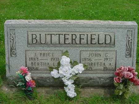 BUTTERFIELD, JOHN G. - Harrison County, Ohio | JOHN G. BUTTERFIELD - Ohio Gravestone Photos