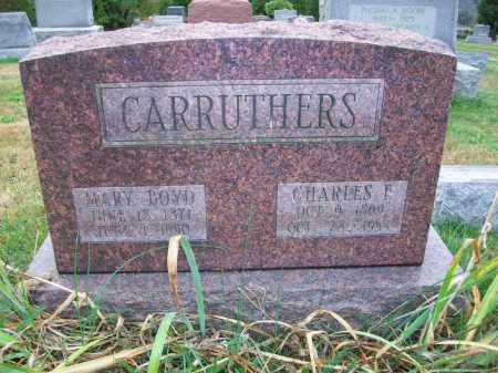 CARRUTHERS, CHARLES FISHER - Harrison County, Ohio | CHARLES FISHER CARRUTHERS - Ohio Gravestone Photos