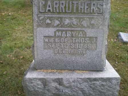 CARRUTHERS, MARY ANN - Harrison County, Ohio | MARY ANN CARRUTHERS - Ohio Gravestone Photos