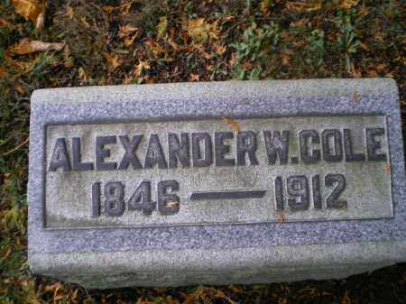 COLE, ALEXANDER W - Harrison County, Ohio | ALEXANDER W COLE - Ohio Gravestone Photos