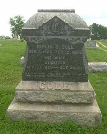 TIPTON COLE, REBECCA - Harrison County, Ohio | REBECCA TIPTON COLE - Ohio Gravestone Photos
