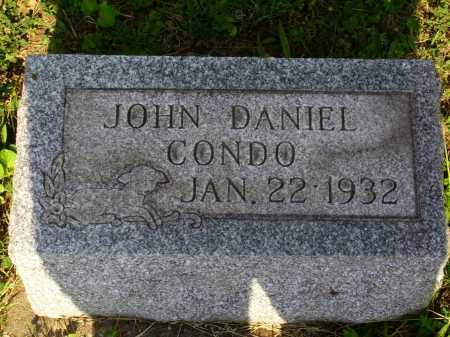 CONDO, JOHN DANIEL - Harrison County, Ohio | JOHN DANIEL CONDO - Ohio Gravestone Photos