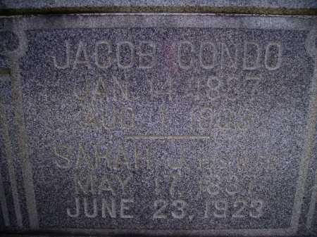CONDO, SARAH JANE - CLOSEVIEW - Harrison County, Ohio   SARAH JANE - CLOSEVIEW CONDO - Ohio Gravestone Photos