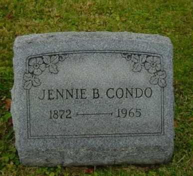CONDO, JENNIE BELLE - Harrison County, Ohio | JENNIE BELLE CONDO - Ohio Gravestone Photos
