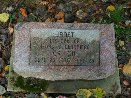 CRAIGO, JANET - Harrison County, Ohio   JANET CRAIGO - Ohio Gravestone Photos