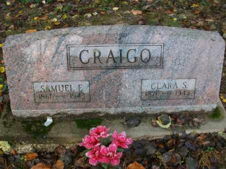 GRAHAM CRAIGO, CLARA S - Harrison County, Ohio   CLARA S GRAHAM CRAIGO - Ohio Gravestone Photos