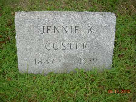KIRBY CUSTER, JENNIE - Harrison County, Ohio | JENNIE KIRBY CUSTER - Ohio Gravestone Photos