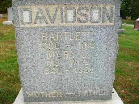 DAVIDSON, BARTLETT - Harrison County, Ohio | BARTLETT DAVIDSON - Ohio Gravestone Photos