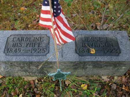 DAVIDSON, CAROLINE - Harrison County, Ohio | CAROLINE DAVIDSON - Ohio Gravestone Photos
