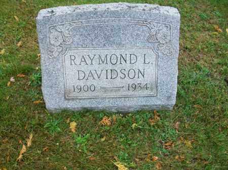 DAVIDSON, RAYMOND L - Harrison County, Ohio   RAYMOND L DAVIDSON - Ohio Gravestone Photos