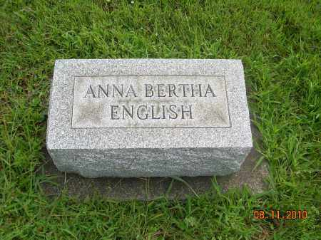 ENGLISH, ANNA BERTHA - Harrison County, Ohio   ANNA BERTHA ENGLISH - Ohio Gravestone Photos