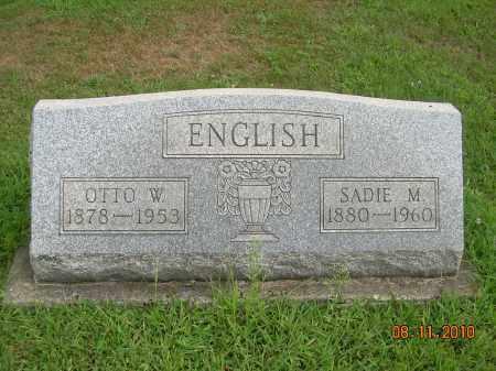 ENGLISH, SADIE M - Harrison County, Ohio | SADIE M ENGLISH - Ohio Gravestone Photos
