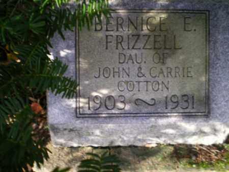FRIZZELL, BERNICE ELIZABETH - Harrison County, Ohio | BERNICE ELIZABETH FRIZZELL - Ohio Gravestone Photos