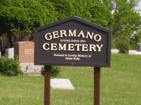 GERMANO CEMETERY, SIGN - Harrison County, Ohio | SIGN GERMANO CEMETERY - Ohio Gravestone Photos