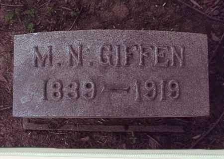 GIFFEN, MORRISON NICHOL - Harrison County, Ohio | MORRISON NICHOL GIFFEN - Ohio Gravestone Photos