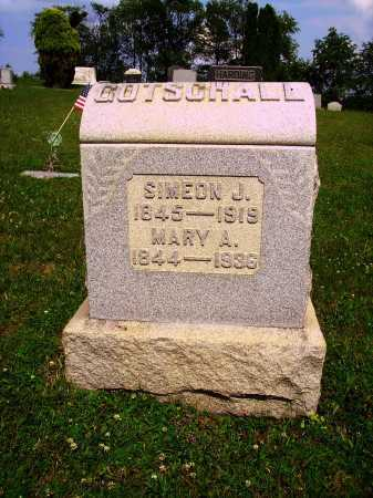 MILLER GOTSCHALL, MARY A. - Harrison County, Ohio | MARY A. MILLER GOTSCHALL - Ohio Gravestone Photos