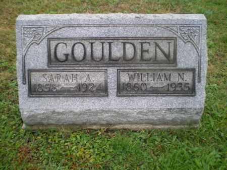 GOULDEN, SARAH A - Harrison County, Ohio | SARAH A GOULDEN - Ohio Gravestone Photos