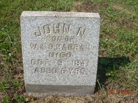 HARRAH, JOHN N - Harrison County, Ohio | JOHN N HARRAH - Ohio Gravestone Photos