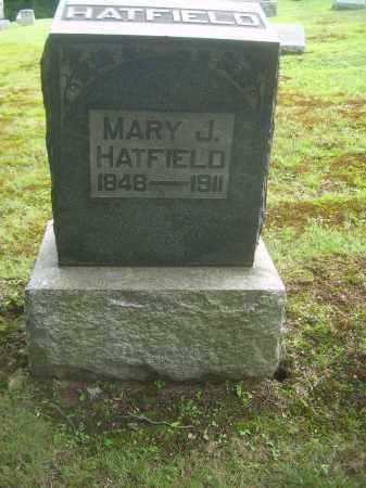 HATFIELD, MARY J - Harrison County, Ohio | MARY J HATFIELD - Ohio Gravestone Photos