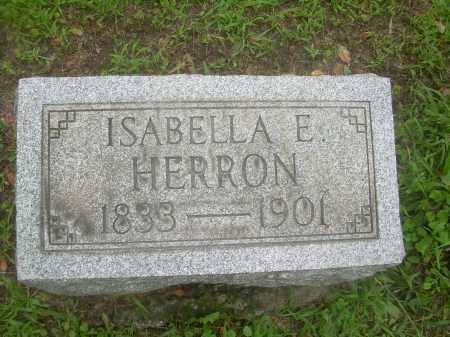 HERRON, ISABELLA E. - Harrison County, Ohio   ISABELLA E. HERRON - Ohio Gravestone Photos