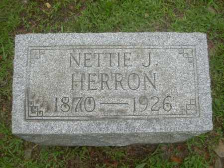 HERRON, NETTIE J. - Harrison County, Ohio   NETTIE J. HERRON - Ohio Gravestone Photos