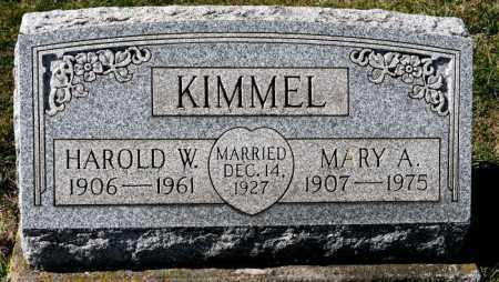 KIMMEL, MARY A. - Harrison County, Ohio | MARY A. KIMMEL - Ohio Gravestone Photos
