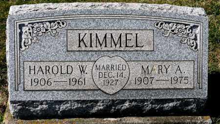 KIMMEL, HAROLD W. - Harrison County, Ohio   HAROLD W. KIMMEL - Ohio Gravestone Photos