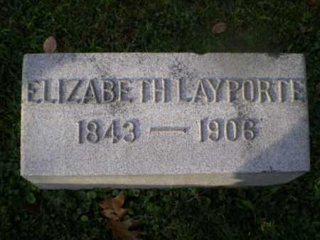 LAYPORTE, ELIZABETH - Harrison County, Ohio   ELIZABETH LAYPORTE - Ohio Gravestone Photos