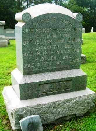 LONG, REBECCA - Harrison County, Ohio | REBECCA LONG - Ohio Gravestone Photos
