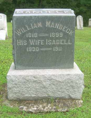 MANBECK, WILLIAM - Harrison County, Ohio | WILLIAM MANBECK - Ohio Gravestone Photos