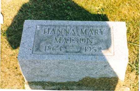 MATSON, HANNA MARY - Harrison County, Ohio | HANNA MARY MATSON - Ohio Gravestone Photos