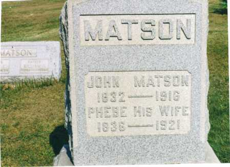 MATSON, PHEBE - Harrison County, Ohio | PHEBE MATSON - Ohio Gravestone Photos