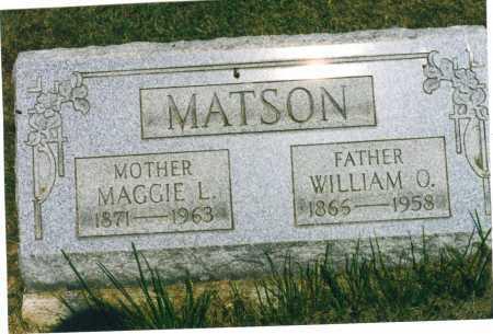 MATSON, MAGGIE L. - Harrison County, Ohio | MAGGIE L. MATSON - Ohio Gravestone Photos