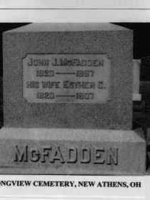 MCFADDEN, ESTHER - Harrison County, Ohio | ESTHER MCFADDEN - Ohio Gravestone Photos